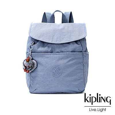 Kipling紫羅蘭灰素面後背包(中)