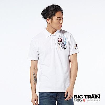 BIG TRAIN 加大猿飛佐助POLO衫-男-白色