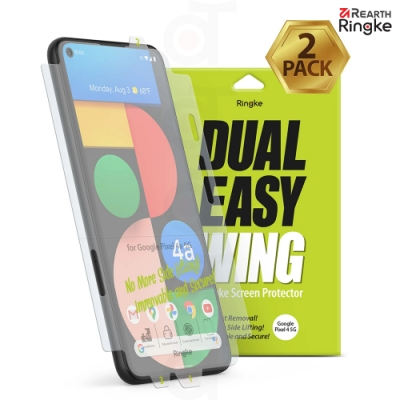 【Ringke】Rearth Google Pixel 4a 5G [Dual Easy Wing] 易安裝側邊滿版螢幕保護貼 - 二片裝