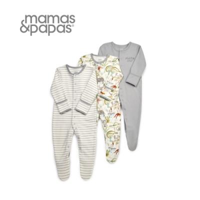Mamas&Papas 自由海明威-連身衣3件組