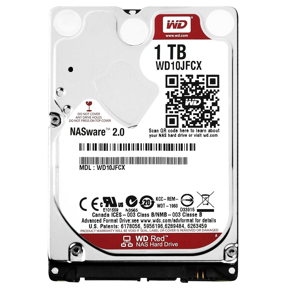 WD 紅標 1TB 2.5吋NAS專用硬碟(WD10JFCX)