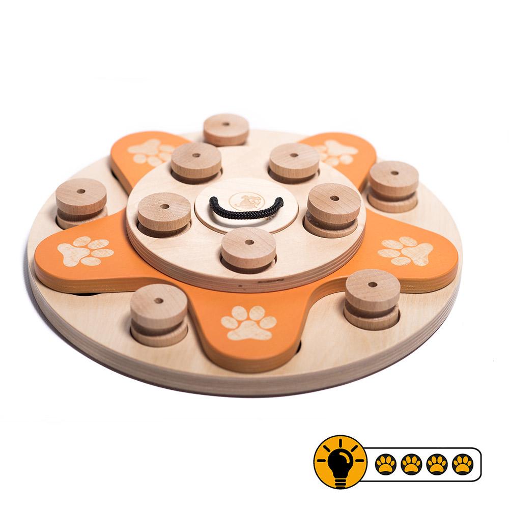 靈靈狗 花花世界輪盤 寵物桌遊 益智玩具 互動遊戲