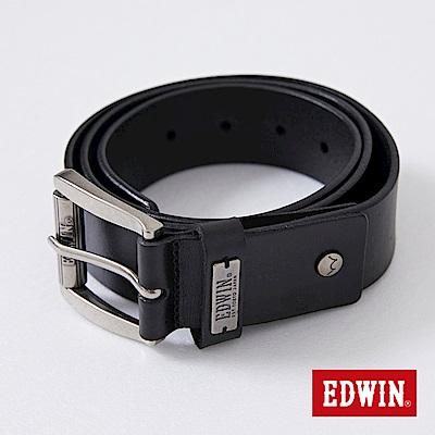 EDWIN 刻字滾輪皮帶-黑色