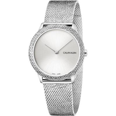 Calvin Klein Minimal 經典重溫復古時尚錶(K3M22T26)銀