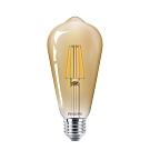 【飛利浦PHILIPS】LED經典復古仿鎢絲燈泡 全電壓 (ST64 5.5W) 4入組