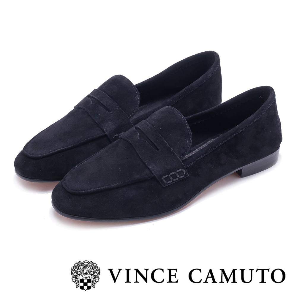 VINCE CAMUTO 麂皮素面低跟鞋-黑色