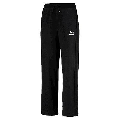 PUMA-女性流行系列T7直筒長褲-黑色-亞規