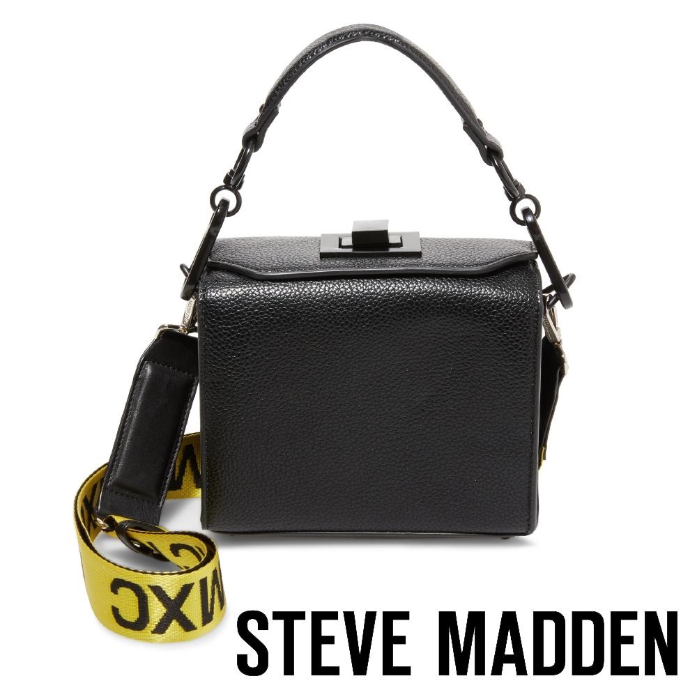 STEVE MADDEN-BKWEEN 印花錶帶手提斜背兩用包-黑色