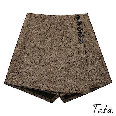 裝飾排扣拉鍊褲裙 共二色 TATA