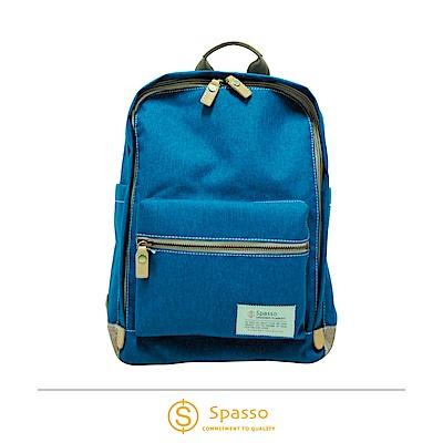 SPASSO 日本同步款 帆布後背包  藍色