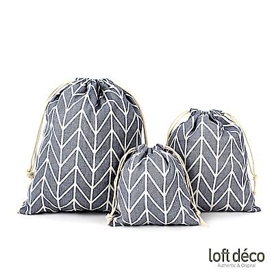 Loft Deco | Gray line | 束口袋三件套