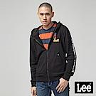 Lee 繡標連帽開襟外套/RG-標準版-黑
