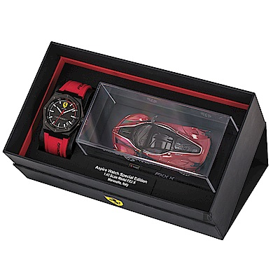 Scuderia Ferrari 法拉利 奔馳再勝禮盒組套錶(0870030)-42mm