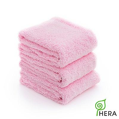 HERA 3M專利瞬吸快乾抗菌超柔纖毛巾3入組-櫻花粉