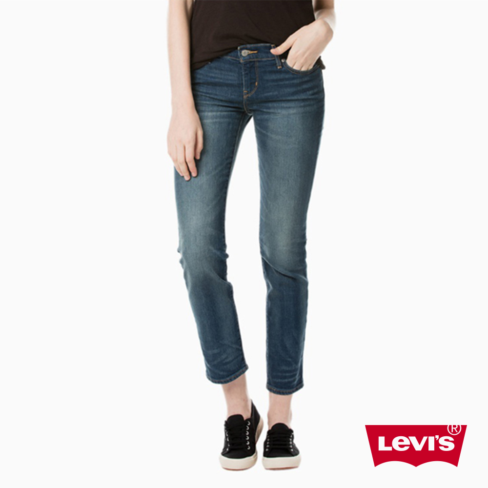 Levis 女款 牛仔褲 中腰修身窄管 微彈性