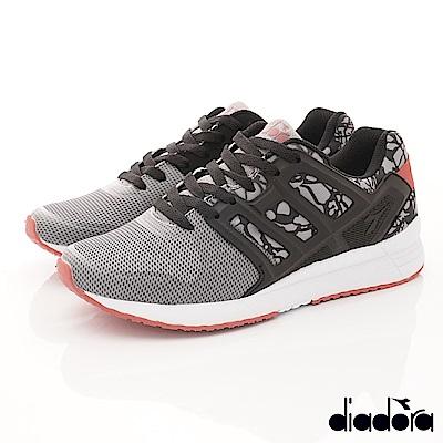 DIADORA-乳膠緩震時尚跑鞋款 FI958灰(男段)G