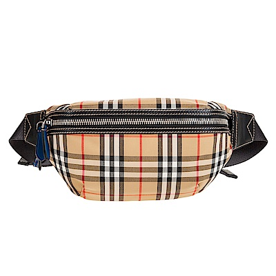 BURBERRY 新款經典格紋中型Vintage腰包/胸口包