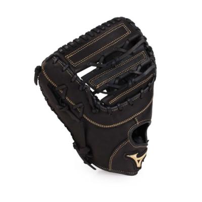 MIZUNO 硬式棒球手套一壘手用左投 黑淺金
