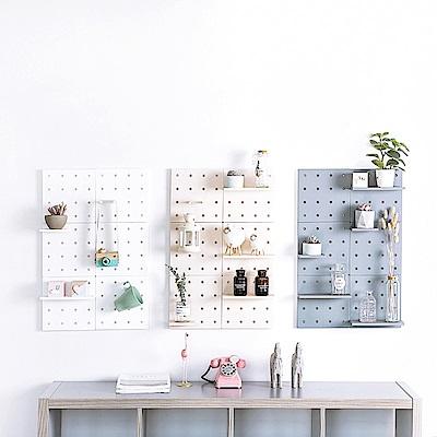 半島良品 居家創意多功能壁掛洞洞置物板(1入組)-3色任選