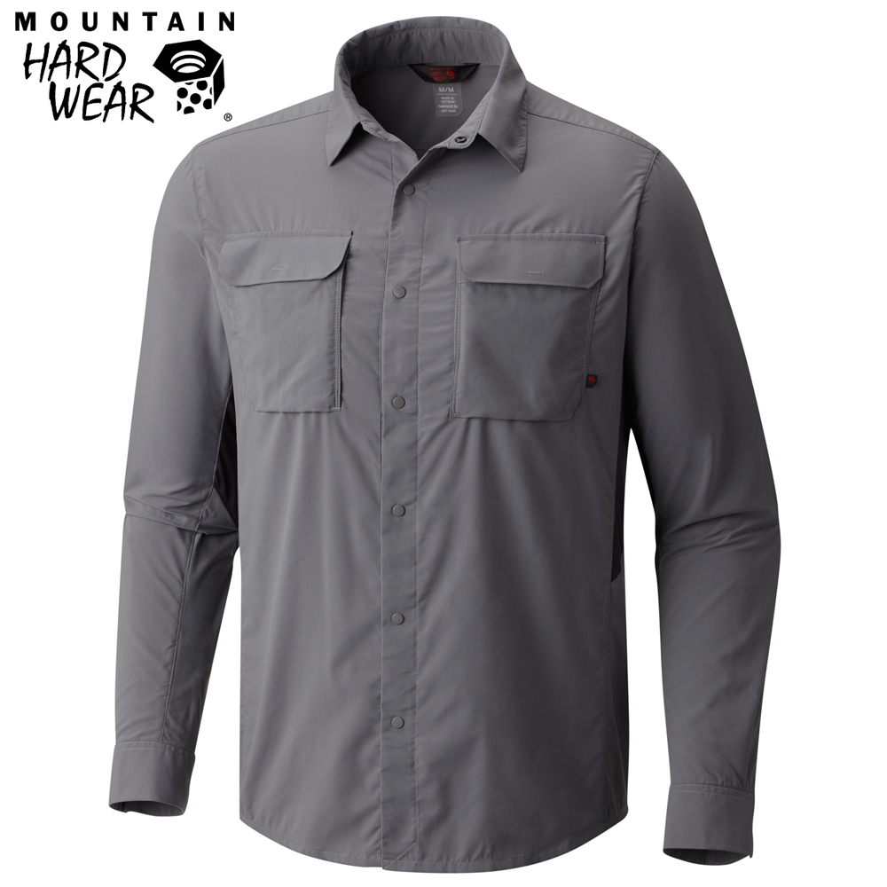 Mountain Hardwear 男款-防曬50快排長袖襯衫-灰色