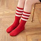 8:AT 運動長筒襪(簡約紅)