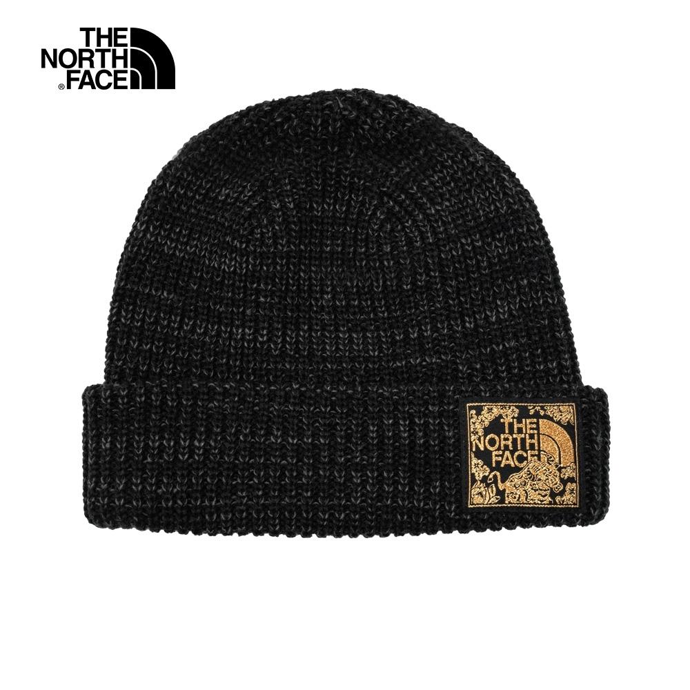 The North Face北面男女款黑色保暖毛帽 3FJW39K