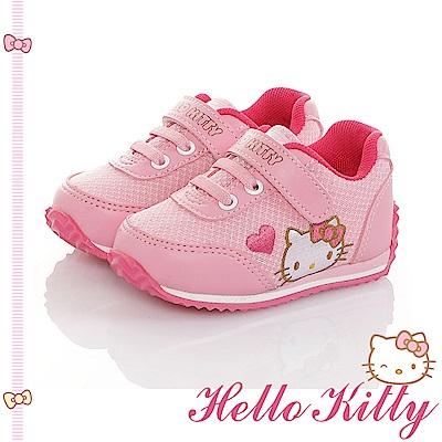HelloKitty 透氣輕量減壓吸震休閒童鞋-粉