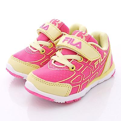 FILA頂級童鞋款 輕量運動款 FO25P-292黃桃(小童段)0
