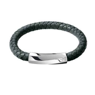 CALVIN KLEIN bewilder 系列 織菱紋個性手環