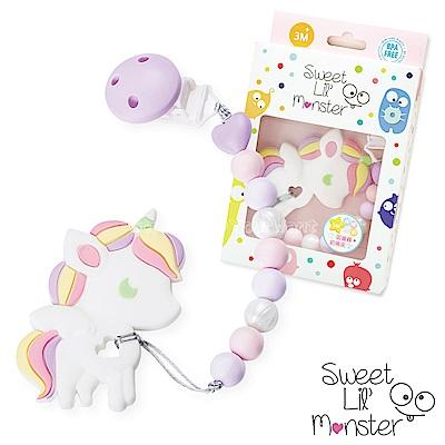 【Sweet Lil Monster】紫蘿蘭獨角獸固齒器/奶嘴鍊