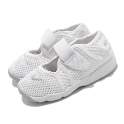 Nike 休閒鞋 Little Rift TD 運動 童鞋 經典款 忍者鞋 舒適 魔鬼氈 穿搭 小童 白 灰 317415111