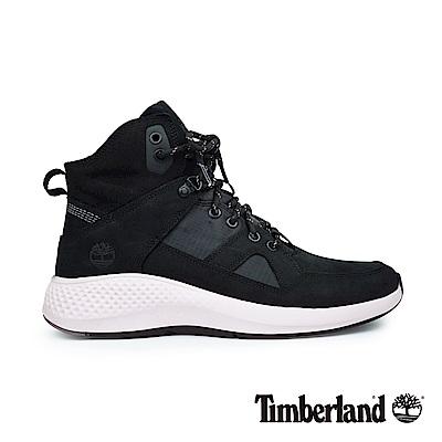 Timberland 男款黑色磨砂革配織物Flyroam運動靴|A1S9Q