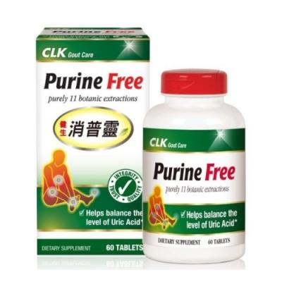 CLK健生 Purine Free 消普靈 60粒 (含諾麗果11種植物精華)