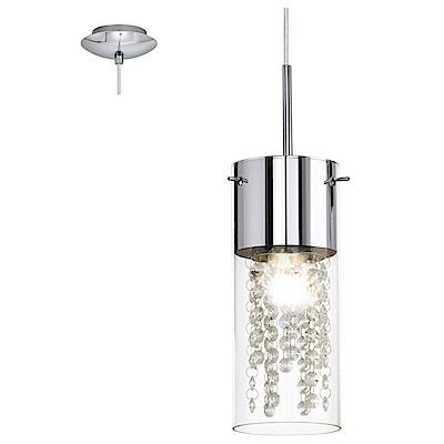 EGLO歐風燈飾 現代風玻璃水晶飾條吊燈(不含燈泡)