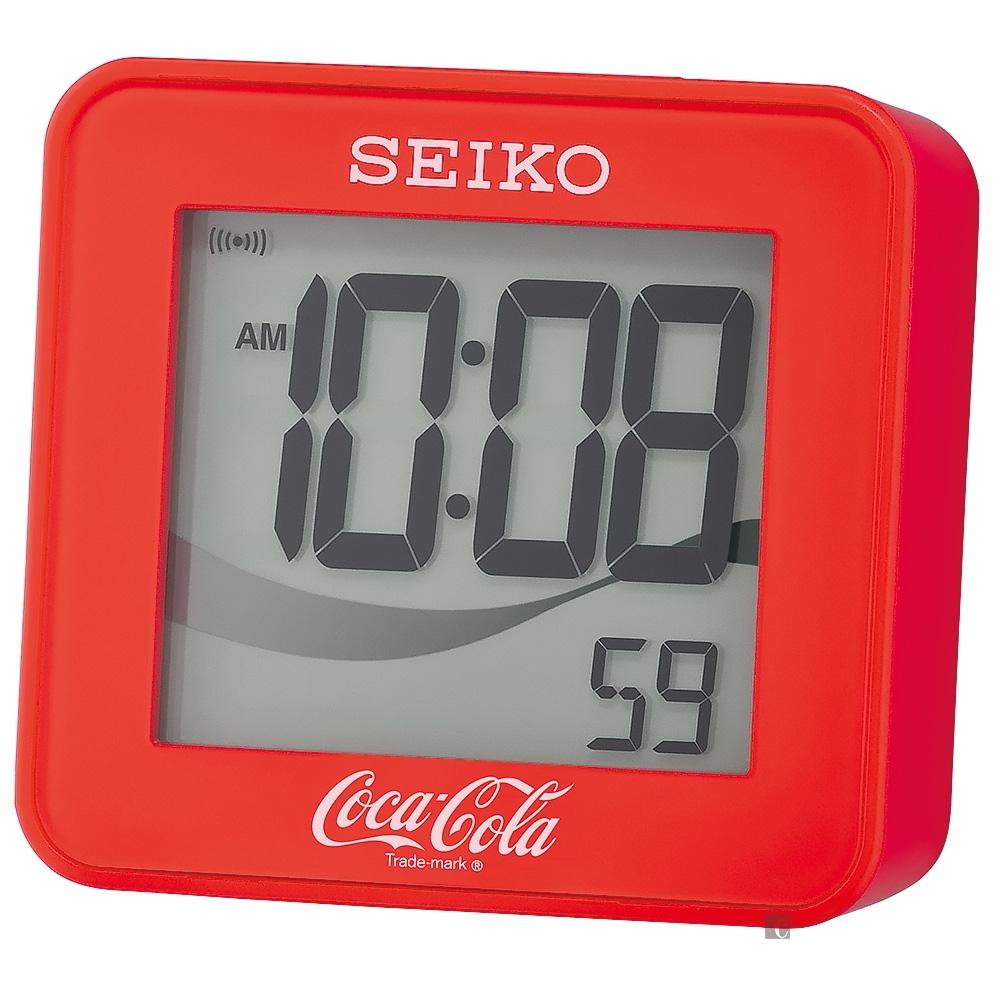 SEIKO 精工 Coca-Cola 可口可樂聯名鬧鐘 QHL903R-6.5*4.0cm
