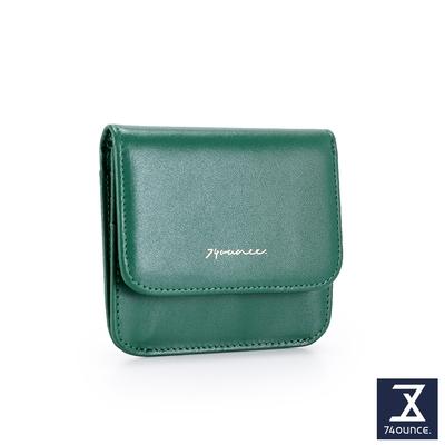 74盎司 Elegant-C真皮壓釦卡片零錢包[LN-769-EL-W]綠