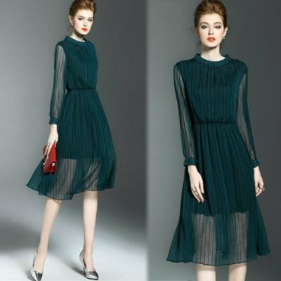 【KEITH-WILL】女神氣勢簡約修身洋裝