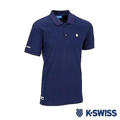 K-SWISS KS Logo Polo短袖POLO衫-男-藍