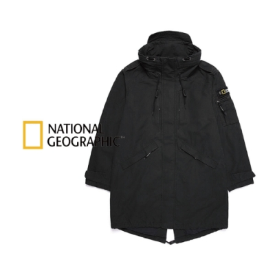 NATIONAL GEOGRAPHIC 男 PERUS Fish Tail Long JP  長大衣 炭黑-N203MJP010198