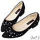 Ann'S星星糖-漸層小水鑽沙發後跟尖頭平底鞋-黑 product thumbnail 1