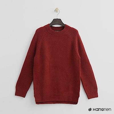 Hang Ten - 女裝 - 質感圓領針織上衣-紅