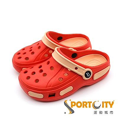Roadpacer 中大童拖鞋 洞洞鞋 紅 BS025RED