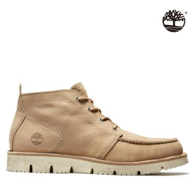Timberland 男款米色商務休閒中筒靴|A2QX9
