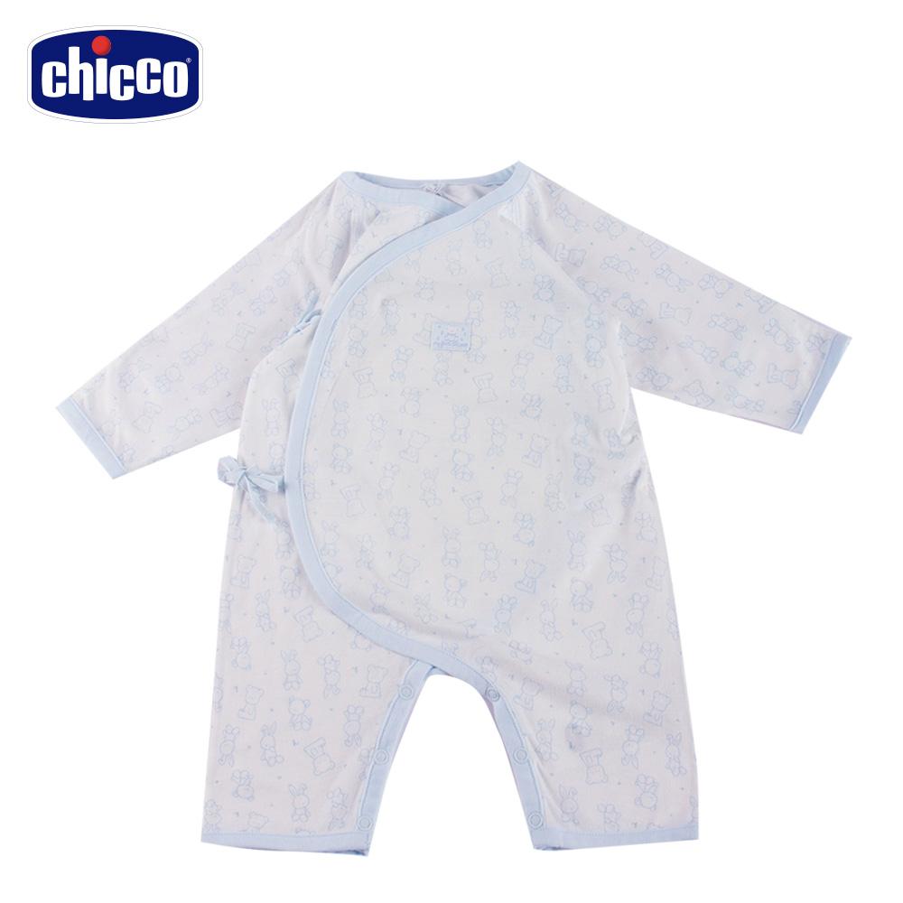 chicco-肚衣式兔裝-藍(3-6個月)