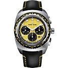 Favre-Leuba域峰表RAIDER系列SEA SKY腕錶-黃x黑皮帶/44mm