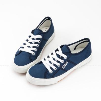 ARRIBA艾樂跑女鞋-基本款 韓系帆布鞋-藍/黑(AB8032)