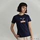 GIORDANO  女裝Positive印花T恤 - 22 桑葚藍 product thumbnail 1