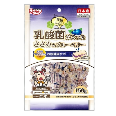 【2入組】日本Q-Pet巧沛-愛情乳酸菌短切雞肉條(3種口味) 150g
