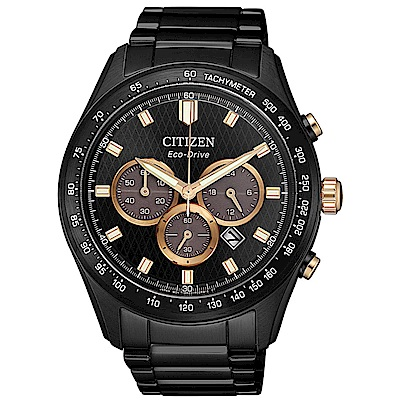 CITIZEN星辰 光動能極速強悍計時男錶(CA4458-88E)-黑/43mm
