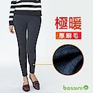 bossini女裝-素色刷毛貼身內搭褲01灰